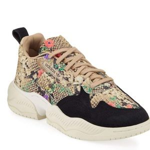 Adidas sneakers in snake print with box